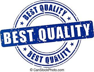 illustration of best quality blue stamp design icon