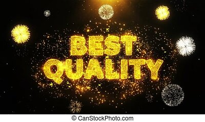 Best Quality Text on Firework Display Explosion Particles.