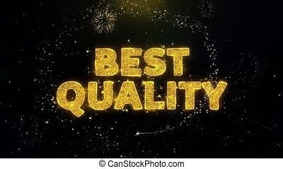 Best Quality Text on Gold Particles Fireworks Display.
