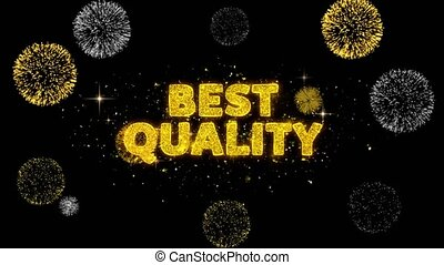 Best Quality Text Reveal on Glitter Golden Particles Firework. Sale, Discount Price, Off Deals, Offer promotion offer percent discount ads 4K Loop Animation.