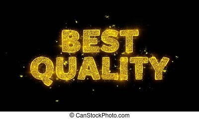 Best Quality Text Sparks Glitter Particles on Black Background. Sale, Discount Price, Off Deals, Offer promotion offer percent discount ads 4K Loop Animation.