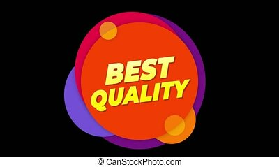 Best Quality Text Sticker Colorful Sale Popup Animation. -...