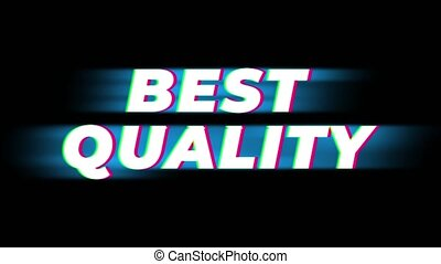 Best Quality Text Glitch Effect Promotion Advertisement Loop Background. Price Tag, Sale, Discounts, Deals, Special Offers, Green Screen and Alpha Matte