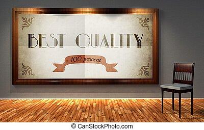 Best quality vintage advertising, retro interior