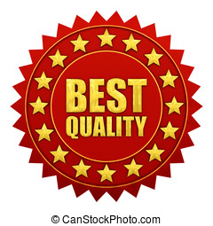 Best quality warranty, red and gold label