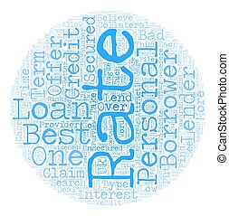 Best Rate Personal Loans One of the Most Sought After Features text background wordcloud concept