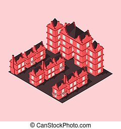 residential complex isometric