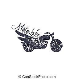 Best Ride Black And White Vintage Emblem. Monochrome Vector Design Labels On White Background