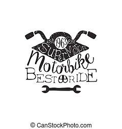 Best Ride Vintage Emblem. Old School Design Stamp.
