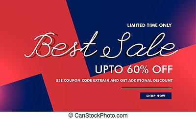 best sale discount voucher banner template vector design background