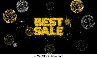 Best Sale Golden Text Blinking Particles with Golden...