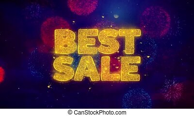 Best Sale Greeting Text Sparkle Particles on Colored...