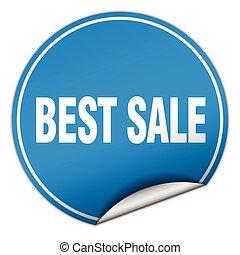 best sale round blue sticker isolated on white