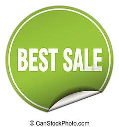best sale round green sticker isolated on white
