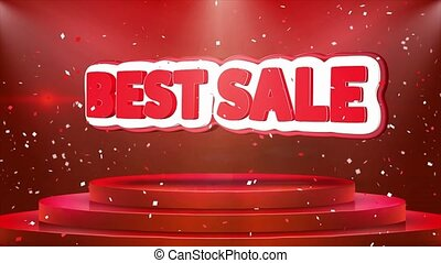 Best Sale Text Animation Stage Podium Confetti Loop...