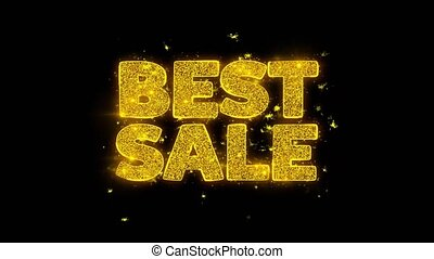 Best Sale Typography Written with Golden Particles Sparks...