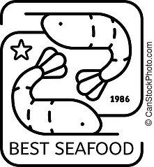 Best sea food logo, outline style