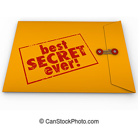Best Secret Ever Yellow Envelope Confidential Information...