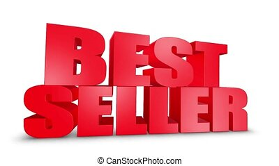 Best Seller 3D Text Come Down 3D Animation Render.
