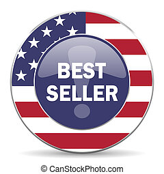 best seller american icon - web glossy icon