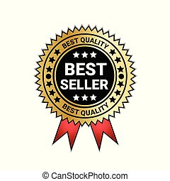Best Seller And Quality Medal Golden Seal With red Ribbon Decoration