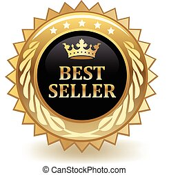 Best Seller Badge - Best seller gold badge.