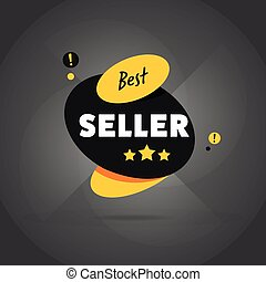 Best seller badge flat