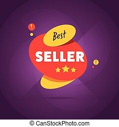 Best seller badge flat