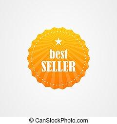 Best seller badge icon logo vector design