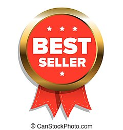 Best Seller badge with red ribbon