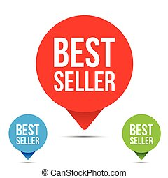 Best Seller button tag vector