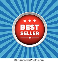 Best seller button vector