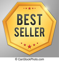 Best seller golden badge