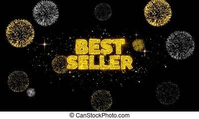 Best Seller Golden Text Blinking Particles with Golden...