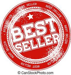 best seller grunge stamp vector