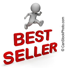 Best Seller Indicates Number One And Chief 3d Rendering - ...