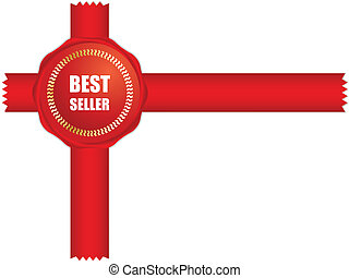 Best seller label for your business