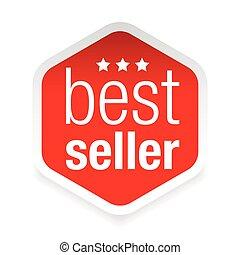 Best Seller label icon vector