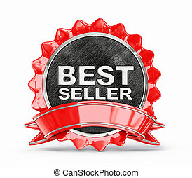 best seller label isolated on a white background