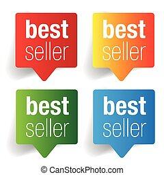 Best Seller label speech bubble