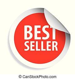 Best Seller label sticker vector