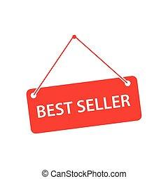 Best Seller Label Vector Template Design