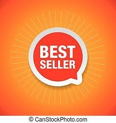 Best Seller promotion label red vector