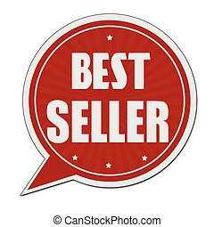 Best seller red speech bubble label or sign