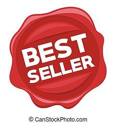 best seller red stamp