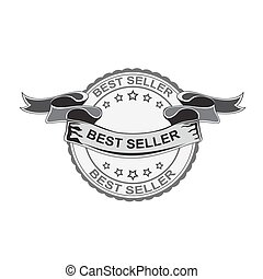 best seller sign. vector