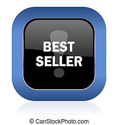 best seller square glossy icon