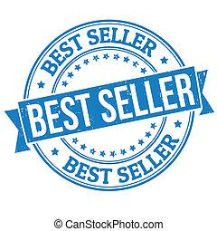 Best seller stamp - Best seller grunge rubber stamp on white...
