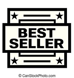 BEST SELLER stamp on white