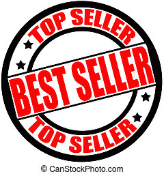 Best seller - Stamp with text top seller inside, vector...